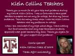 klein collins teachers