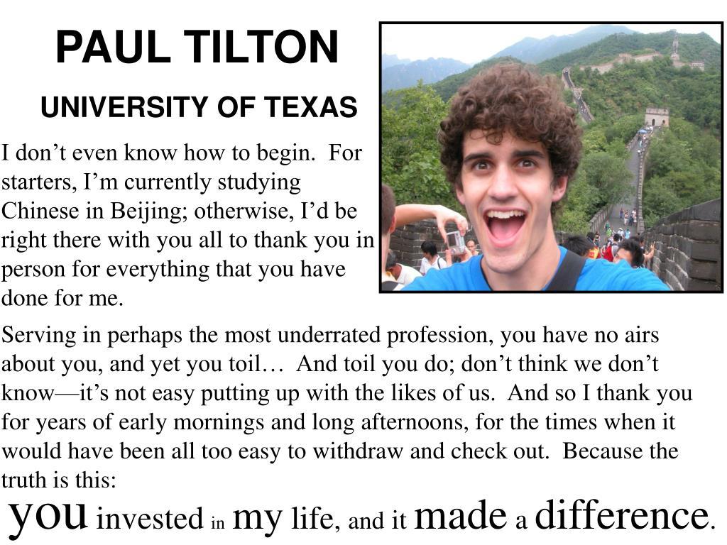 PAUL TILTON