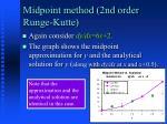 midpoint method 2nd order runge kutte1