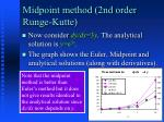 midpoint method 2nd order runge kutte2