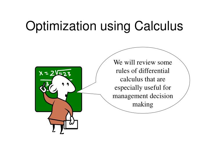 optimization using calculus n.