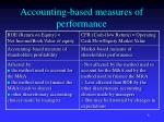 accounting based measures of performance