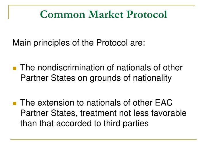 Common Market Protocol