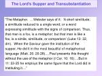 the lord s supper and transubstantiation11