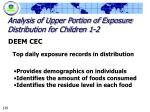 analysis of upper portion of exposure distribution for children 1 2