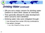 drinking water continued