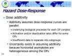 hazard dose response