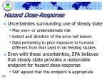 hazard dose response239