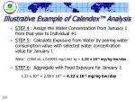 illustrative example of calendex analysis213