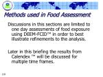 methods used in food assessment119