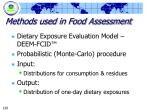 methods used in food assessment120