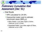preliminary cumulative risk assessment dec 01