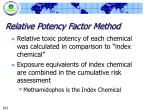 relative potency factor method