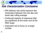 risk characterization conclusions269