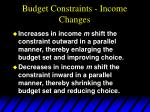 budget constraints income changes29