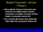 budget constraints income changes30