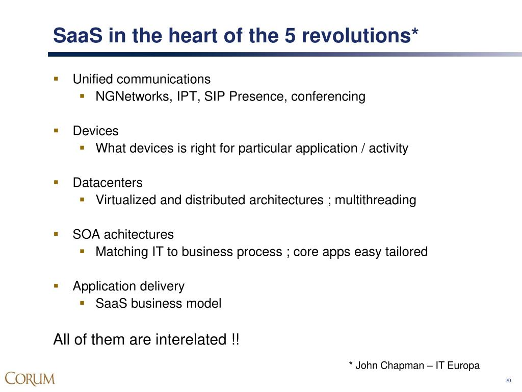 SaaS in the heart of the 5 revolutions*