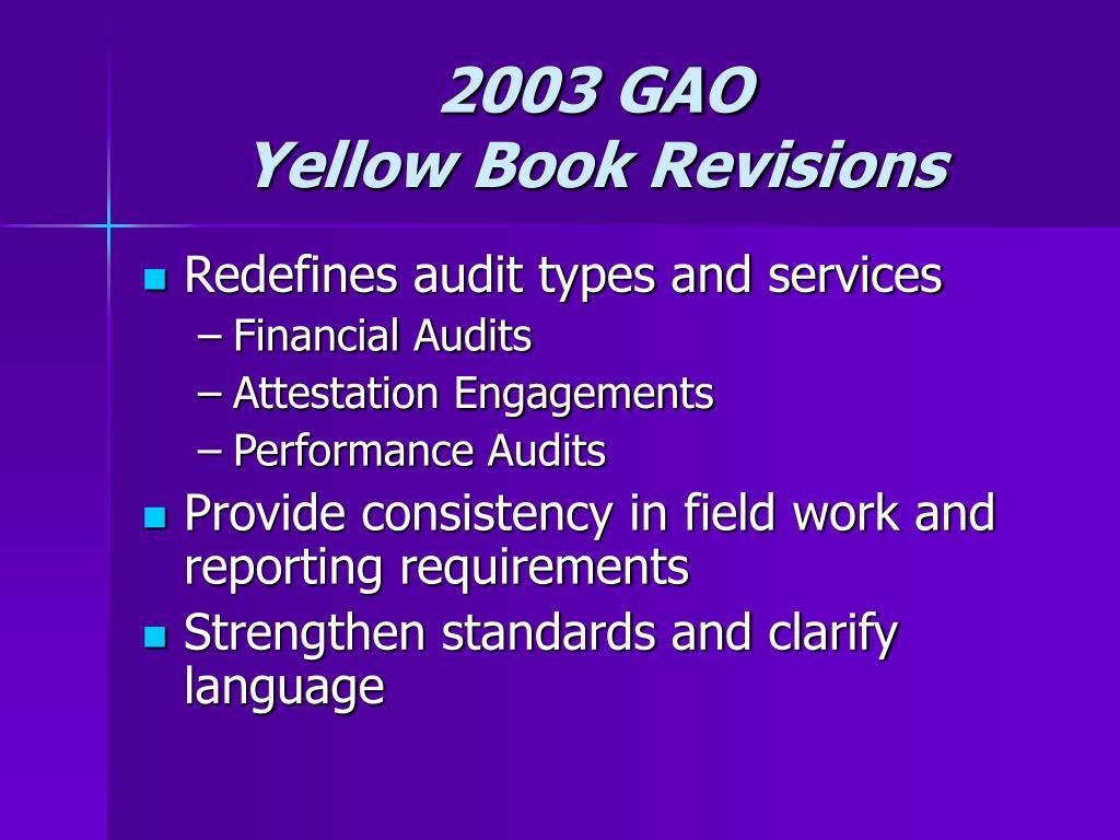 2003 GAO