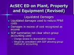 acsec ed on plant property and equipment revised28