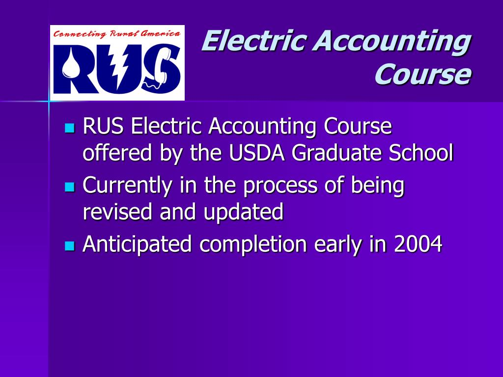 Electric Accounting Course