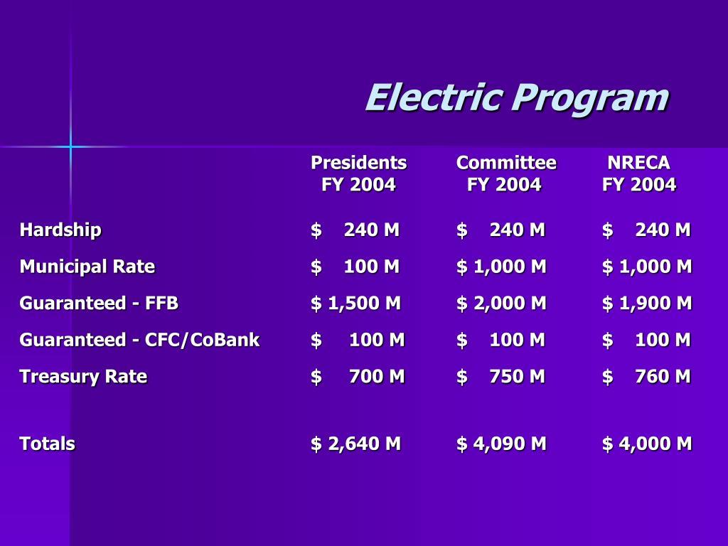 Electric Program