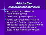 gao auditor independence standards71