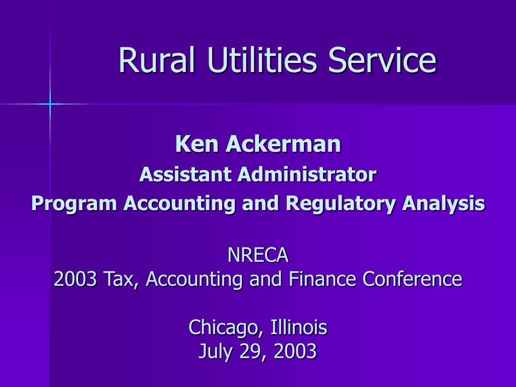 rural utilities service l.