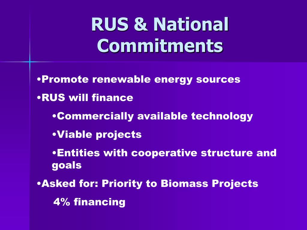RUS & National Commitments