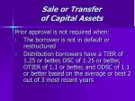 sale or transfer of capital assets43