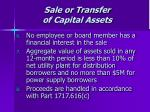 sale or transfer of capital assets45
