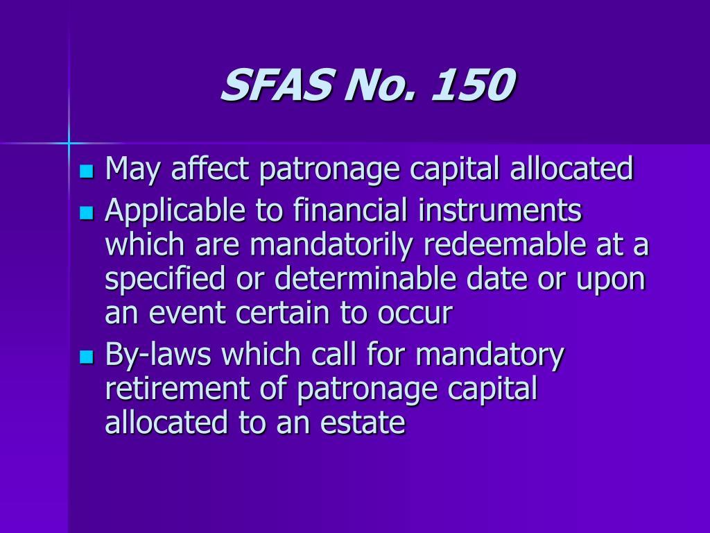 SFAS No. 150