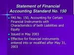 statement of financial accounting standard no 150
