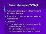 storm damage fema