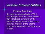 variable interest entities16