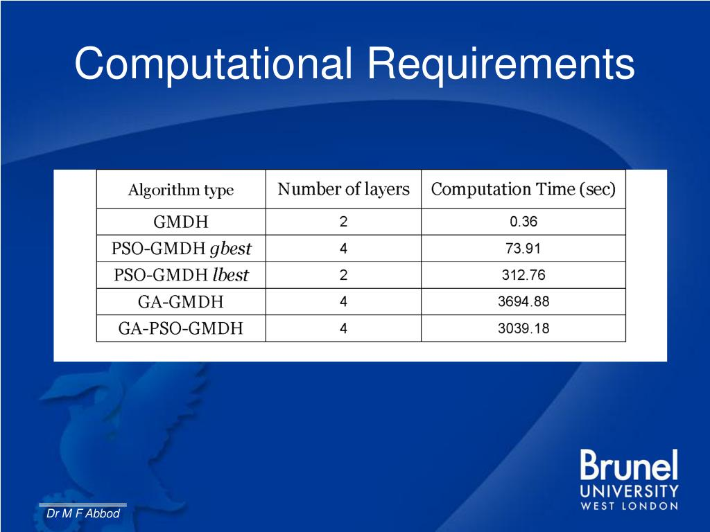 Computational Requirements