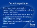 genetic algorithms11