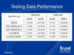 testing data performance