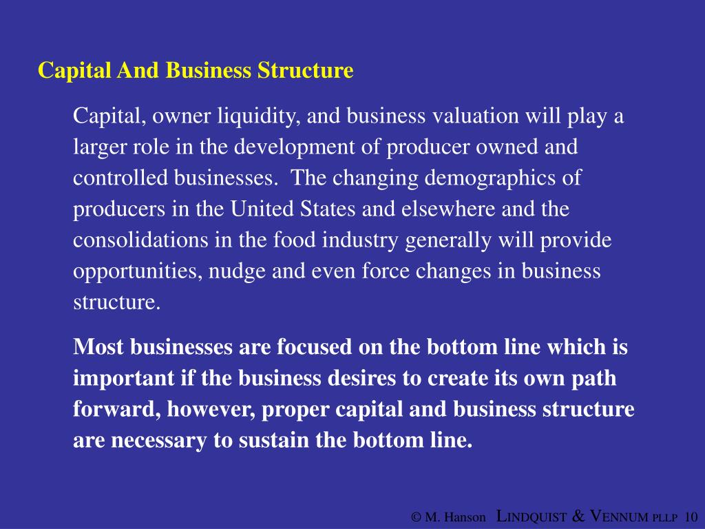Capital And Business Structure