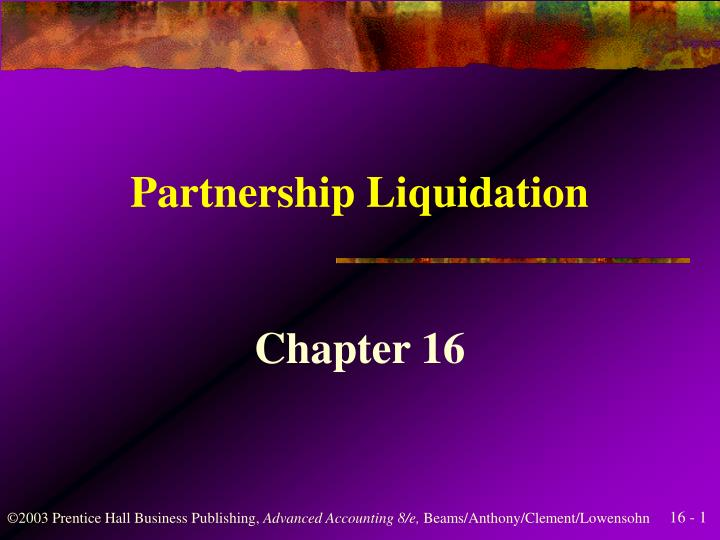 partnership liquidation n.