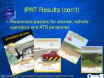 ipat results con t