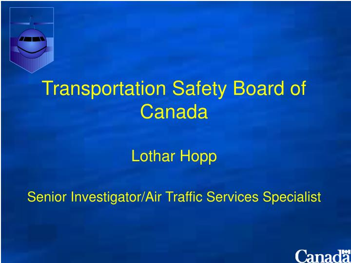 Transportation Safety Board of Canada