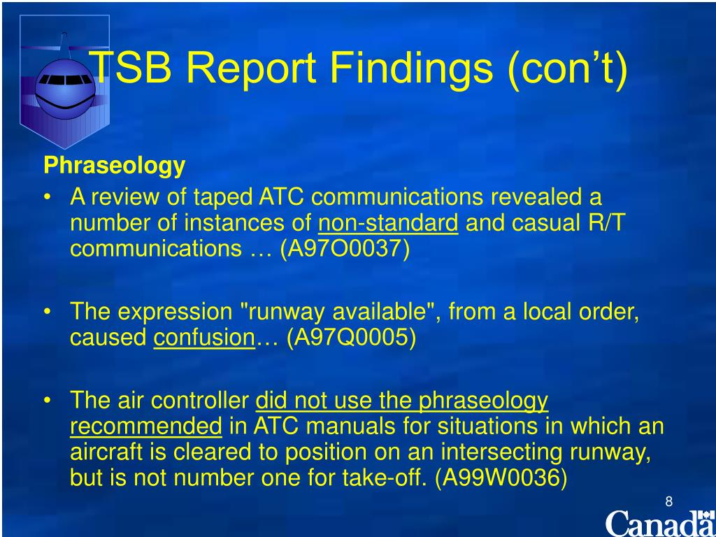 TSB Report Findings (con't)