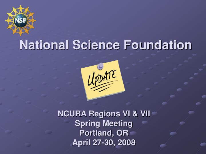 national science foundation n.