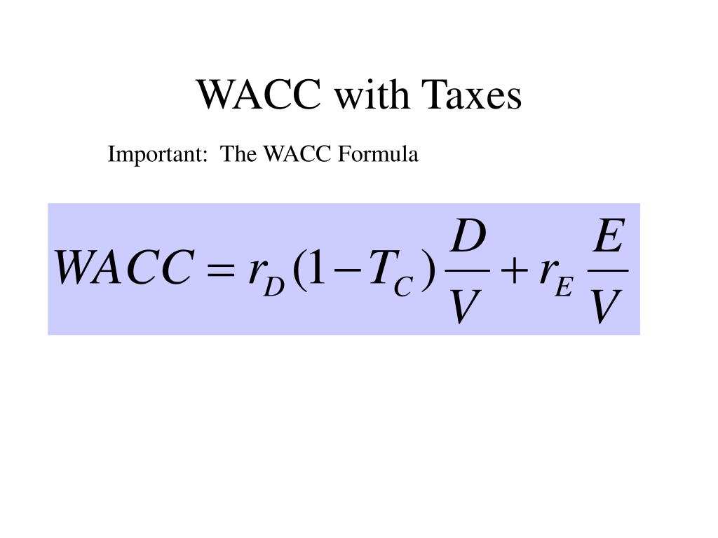 WACC with Taxes