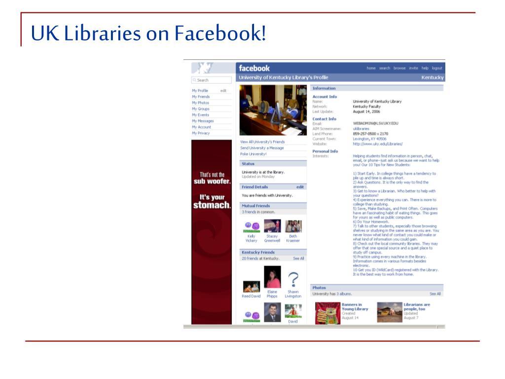 UK Libraries on Facebook!