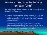 arrival statistics the poisson process cont7