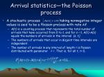arrival statistics the poisson process