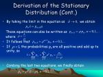 derivation of the stationary distribution cont