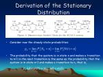 derivation of the stationary distribution