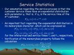 service statistics
